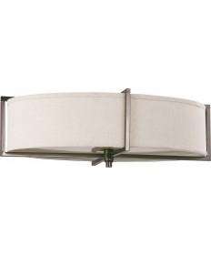 Nuvo Lighting 60/4459 Portia 6 Light Oval Flush with Khaki Fabric Shade