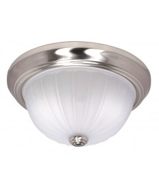 Nuvo Lighting 60/446 2 Light Cfl 11 inch Flush Mount Frosted Melon Glass (2) 13W GU24 Lamps Included