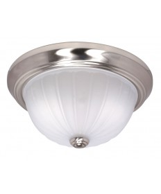 Nuvo Lighting 60/447 2 Light Cfl 13 inch Flush Mount Frosted Melon Glass (2) 13W GU24 Lamps Included