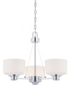 Nuvo Lighting 60/4587 Soho 3 Light Chandelier with Satin White Glass