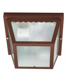 Nuvo Lighting 60/472 2 Light 10 inch Carport Flush Mount With Textured Frosted Glass