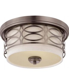 Nuvo Lighting 60/4727 Nuvo Harlow Collection 2-Light Dome Flush Mount