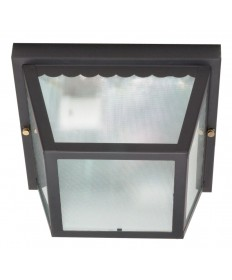 Nuvo Lighting 60/473 2 Light 10 inch Carport Flush Mount With Textured Frosted Glass