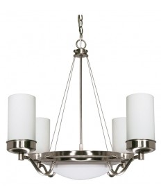 Nuvo Lighting 60/490 Polaris 6 Light Cfl 29 inch Chandelier (6) 13W GU24 Lamps Included