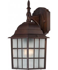 "Nuvo Lighting 60/4905 Adams 1 Light 14"" Outdoor Wall with Frosted"