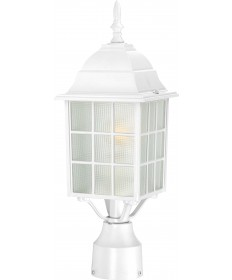 "Nuvo Lighting 60/4907 Adams 1 Light 17"" Outdoor Post with Frosted"