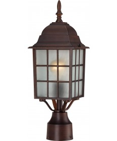 "Nuvo Lighting 60/4908 Adams 1 Light 17"" Outdoor Post with Frosted"