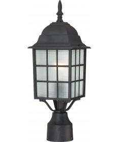 "Nuvo Lighting 60/4909 Adams 1 Light 17"" Outdoor Post with Frosted"
