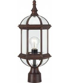 "Nuvo Lighting 60/4975 Boxwood 1 Light 19"" Outdoor Post with Clear"