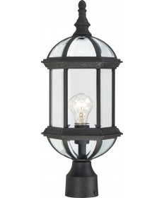 """Nuvo Lighting 60/4976 Boxwood 1 Light 19"""" Outdoor Post with Clear"""