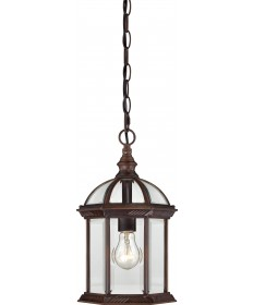 "Nuvo Lighting 60/4978 Boxwood 1 Light 14"" Outdoor Hanging with Clear"