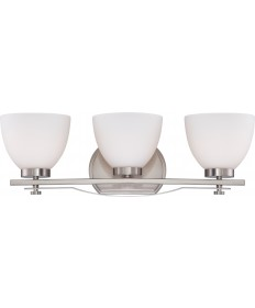 Nuvo Lighting 60/5013 Bentlley 3 Light Vanity Fixture with Frosted
