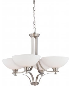 Nuvo Lighting 60/5014 Bentley 4 Light Chandelier with Frosted Glass