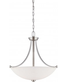 Nuvo Lighting 60/5016 Bentley 3 Light Pendant with Frosted Glass