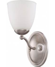Nuvo Lighting 60/5031 Patton 1 Light Vanity Fixture with Frosted Glass