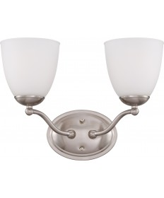Nuvo Lighting 60/5032 Patton 2 Light Vanity Fixture with Frosted Glass