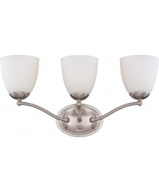 Nuvo Lighting 60/5033 Patton 3 Light Vanity Fixture with Frosted Glass