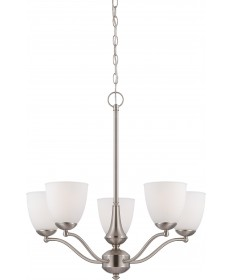 Nuvo Lighting 60/5035 Patton 5 Light Chandelier (Arms Up) with Frosted