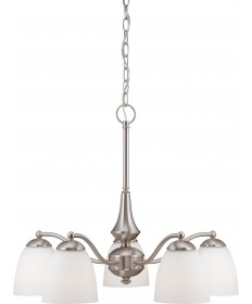 Nuvo Lighting 60/5043 Patton 5 Light Chandelier (Arms Down) with