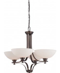Nuvo Lighting 60/5114 Bentley 4 Light Chandelier with Frosted Glass