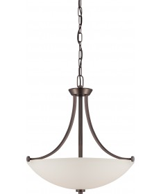 Nuvo Lighting 60/5116 Bentley 3 Light Pendant with Frosted Glass