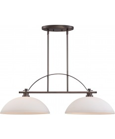 Nuvo Lighting 60/5118 Bentley 2 Light Island Pendant with Frosted