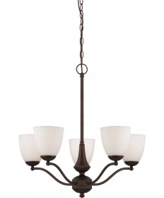 Nuvo Lighting 60/5135 Patton 5 Light Chandelier (Arms Up) with Frosted