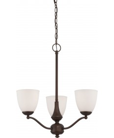 Nuvo Lighting 60/5136 Patton 3 Light Chandelier (Arms Up) with Frosted