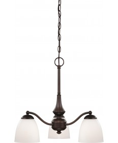 Nuvo Lighting 60/5142 Patton 3 Light Chandelier (Arms Down) with
