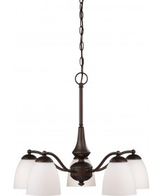 Nuvo Lighting 60/5143 Patton 5 Light Chandelier (Arms Down) with