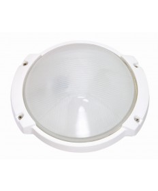 Nuvo 60/516 1 Light 11 inch Oblong Round BulkHead Light Semi Gloss White Finish