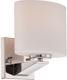 Nuvo Lighting 60/5171 Breeze 1 Light Vanity Fixture with Etched Opal