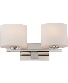 Nuvo Lighting 60/5172 Breeze 2 Light Vanity Fixture with Etched Opal
