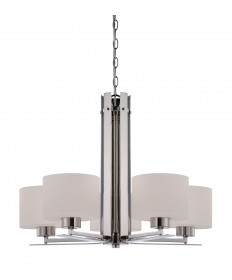 Nuvo Lighting 60/5205 Parallel 5 Light Chandelier with Etched Opal