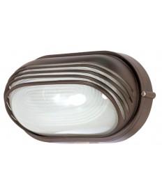 Nuvo Lighting 60/523 1 Light 10 inch Oval Hood Bulk Head Die Cast Bulk Head