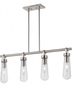 Nuvo Lighting 60/5265 Beaker 4 Light Trestle Fixture with Clear Glass