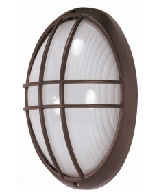 Nuvo Lighting 60/529 1 Light 13 inch Large Oval Cage Bulk Head Die Cast Bulk Head