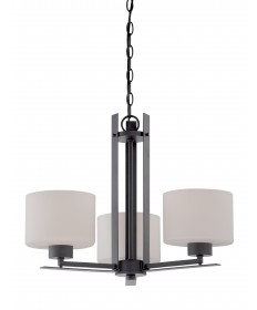 Nuvo Lighting 60/5306 Parallel 3 Light Chandelier with Etched Opal
