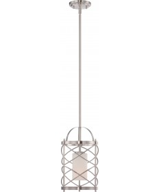 Nuvo Lighting 60/5332 Ginger 1 Light Mini Pendant with Etched Opal