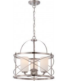 Nuvo Lighting 60/5333 Ginger 3 Light Pendant with Etched Opal Glass