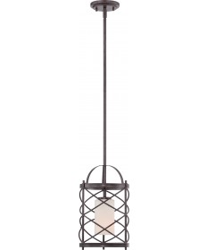 Nuvo Lighting 60/5336 Ginger 1 Light Mini Pendant with Etched Opal