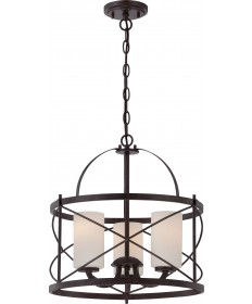 Nuvo Lighting 60/5337 Ginger 3 Light Pendant with Etched Opal Glass