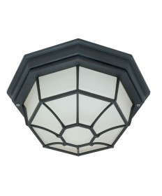 Nuvo Lighting 60/536 1 Light 12 inch Ceiling Spider Cage Fixture Die Cast, Glass Lens