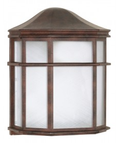 Nuvo Lighting 60/538 1 Light 10 inch Cage Lantern Wall Fixture Die Cast, Linen Acrylic Lens