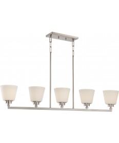 Nuvo Lighting 60/5455 Mobili 5 Light Island Pendant with Satin White