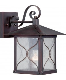 """Nuvo Lighting 60/5612 Vega 1 Light 9"""" Outdoor Wall Fixture with Clear"""