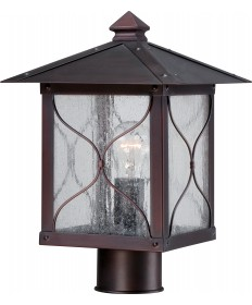 Nuvo Lighting 60/5615 Vega 1 Light Outdoor Post Fixture with Clear