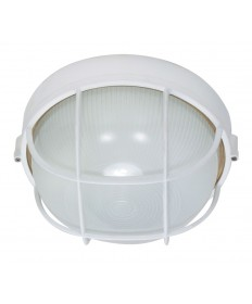 Nuvo Lighting 60/562 1 Light Cfl 10 inch Round Cage Bulk Head (1) 18W GU24 Lamp Included