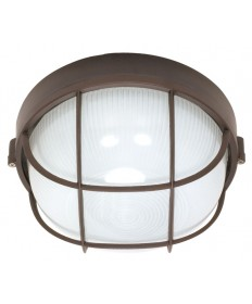 Nuvo Lighting 60/563 1 Light Cfl 10 inch Round Cage Bulk Head (1) 18W GU24 Lamp Included