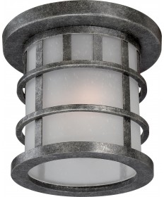 Nuvo Lighting 60/5636 Manor 2 Light Outdoor Flush Fixture with Frosted